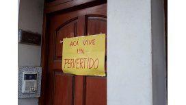 Escracharon la casa de Gustavo Rivas en Gualeguaychú