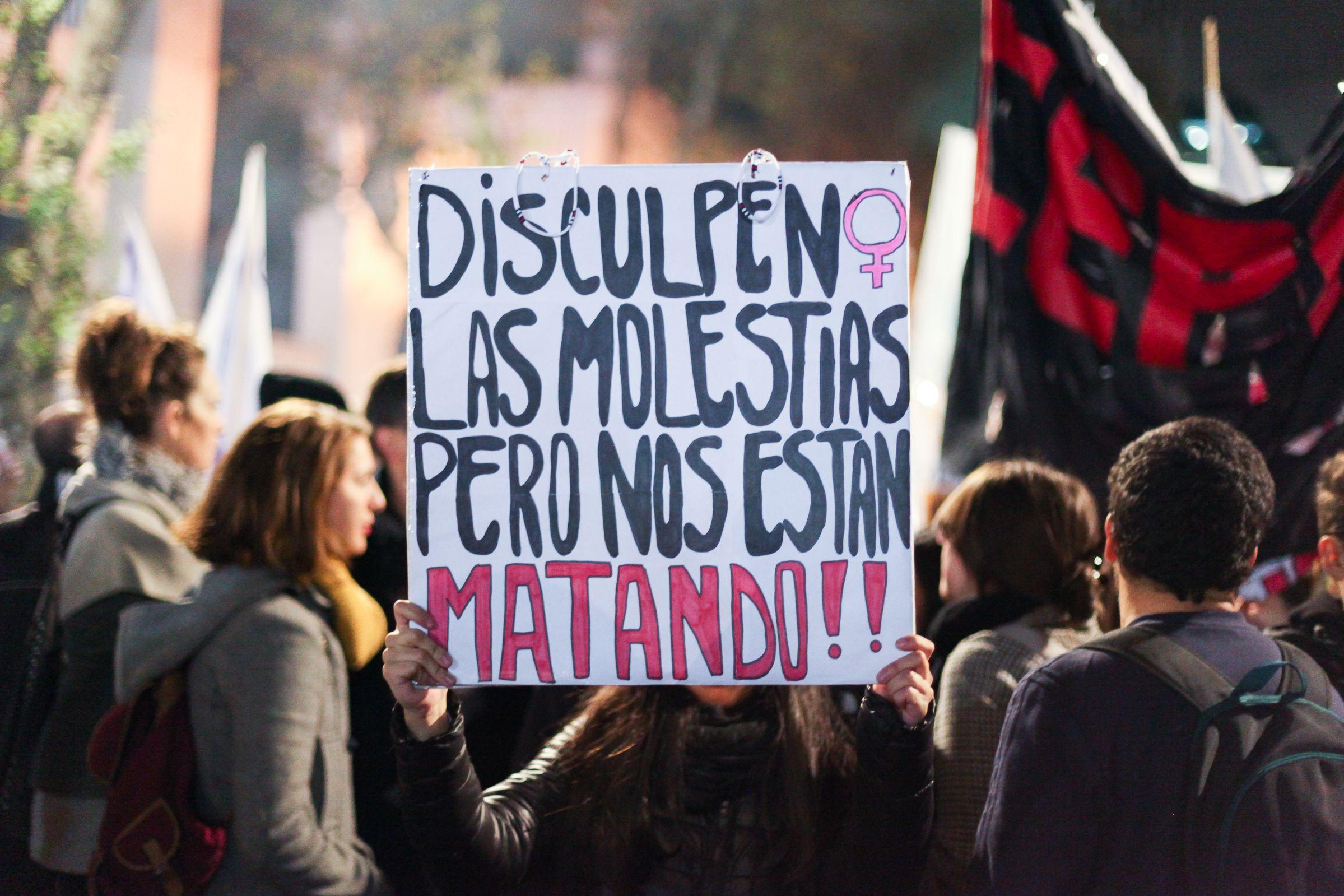 Marcha contra los femicidios<br>