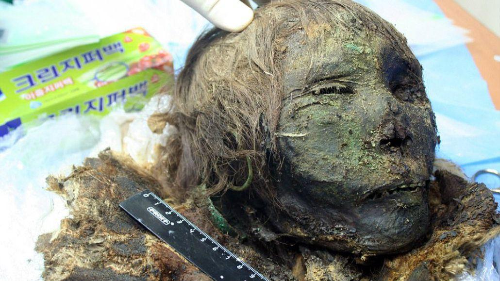 La mujer estaba enterrada cerca del río Gorny Pouly