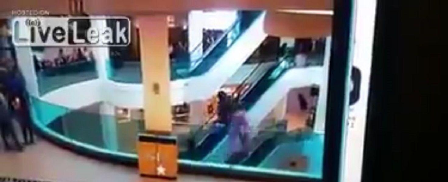 Se tiró del tercer piso de un shopping en Río de Janeiro