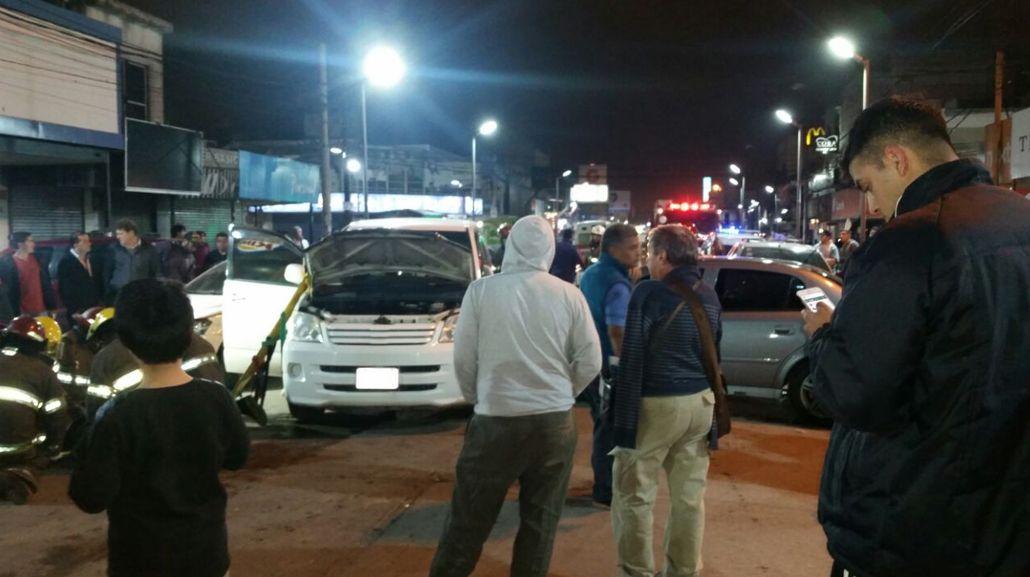El accidente ocurrrió en el centro de San Francisco Solano