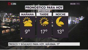 Pronóstico del tiempo para el miércoles 16 de agosto de 2017