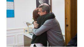 Cristina Kirchner con Agustín Rossi