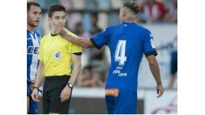 alexis ruano y una falta de respeto a un arbitro en espana: eres un puto