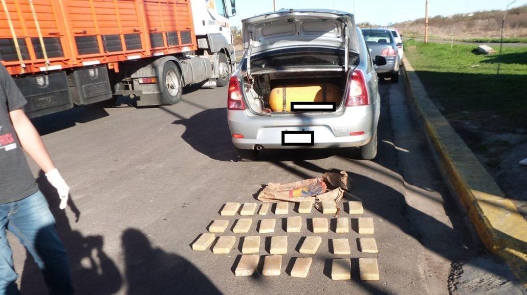 Detuvieron al hijo de un diputado del PRO con 22 panes de marihuana. Foto gentileza: Noticias de Villaguay