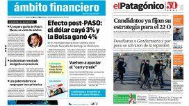 Tapas de diarios del martes 15 de agosto de 2017
