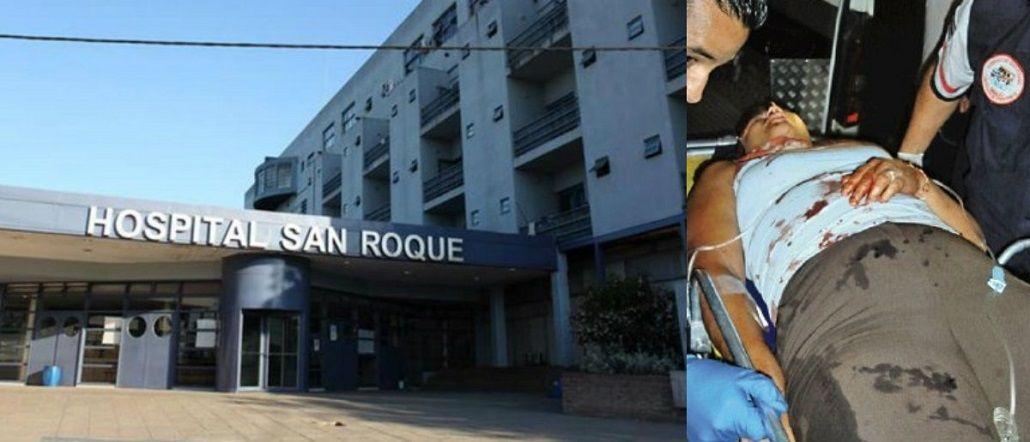 La mujer herida fue trasladada al Hospital San Roque