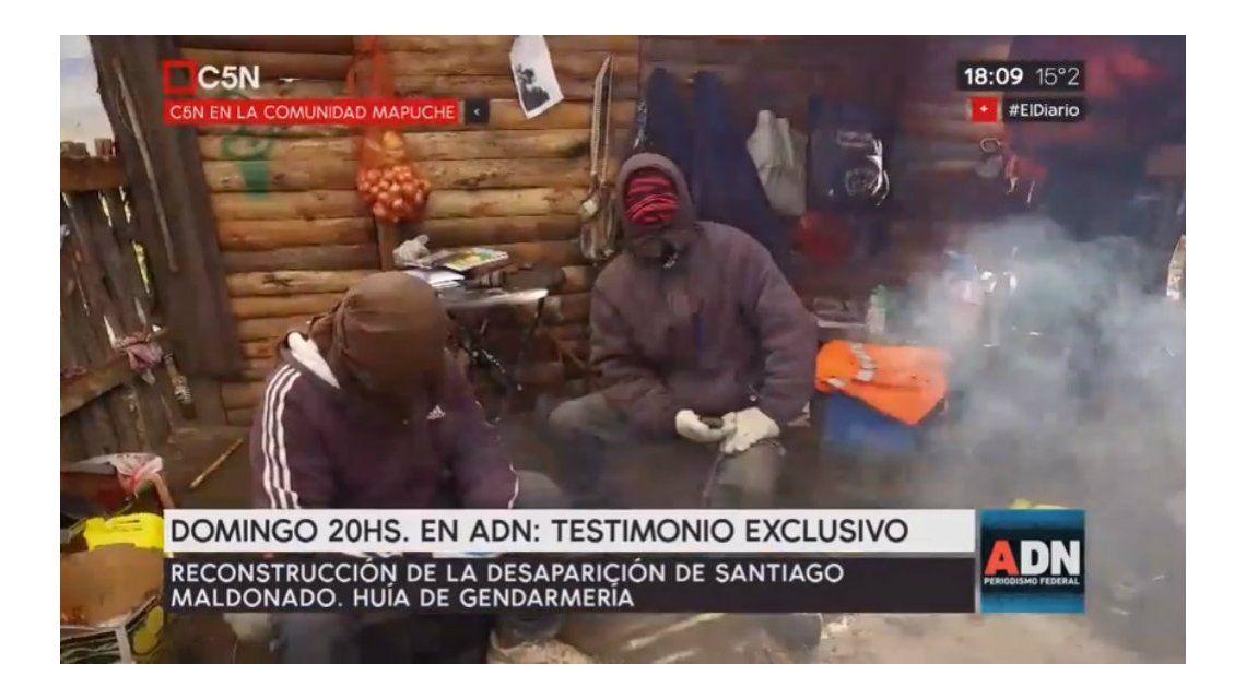 Testimonio exclusivo para la reconstrucción del caso de Santiago Maldonado