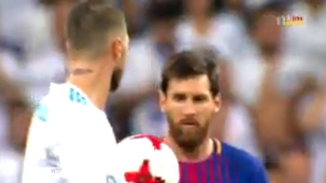 VIDEO: ¡Se le salió la cadena! El insulto de Messi a Sergio Ramos