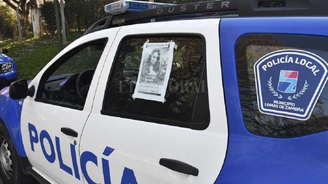 La policía cuando buscaba a Anahí Benítez