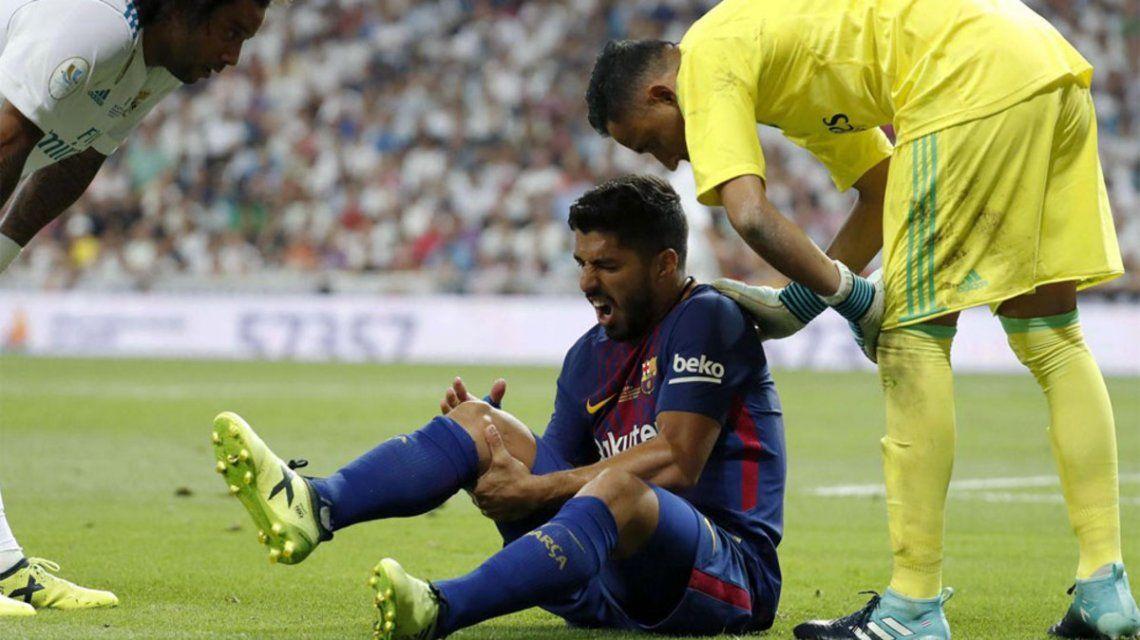 Luis Suárez lesionado