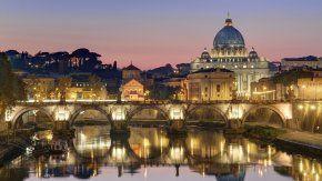El atardecer en el Vaticano