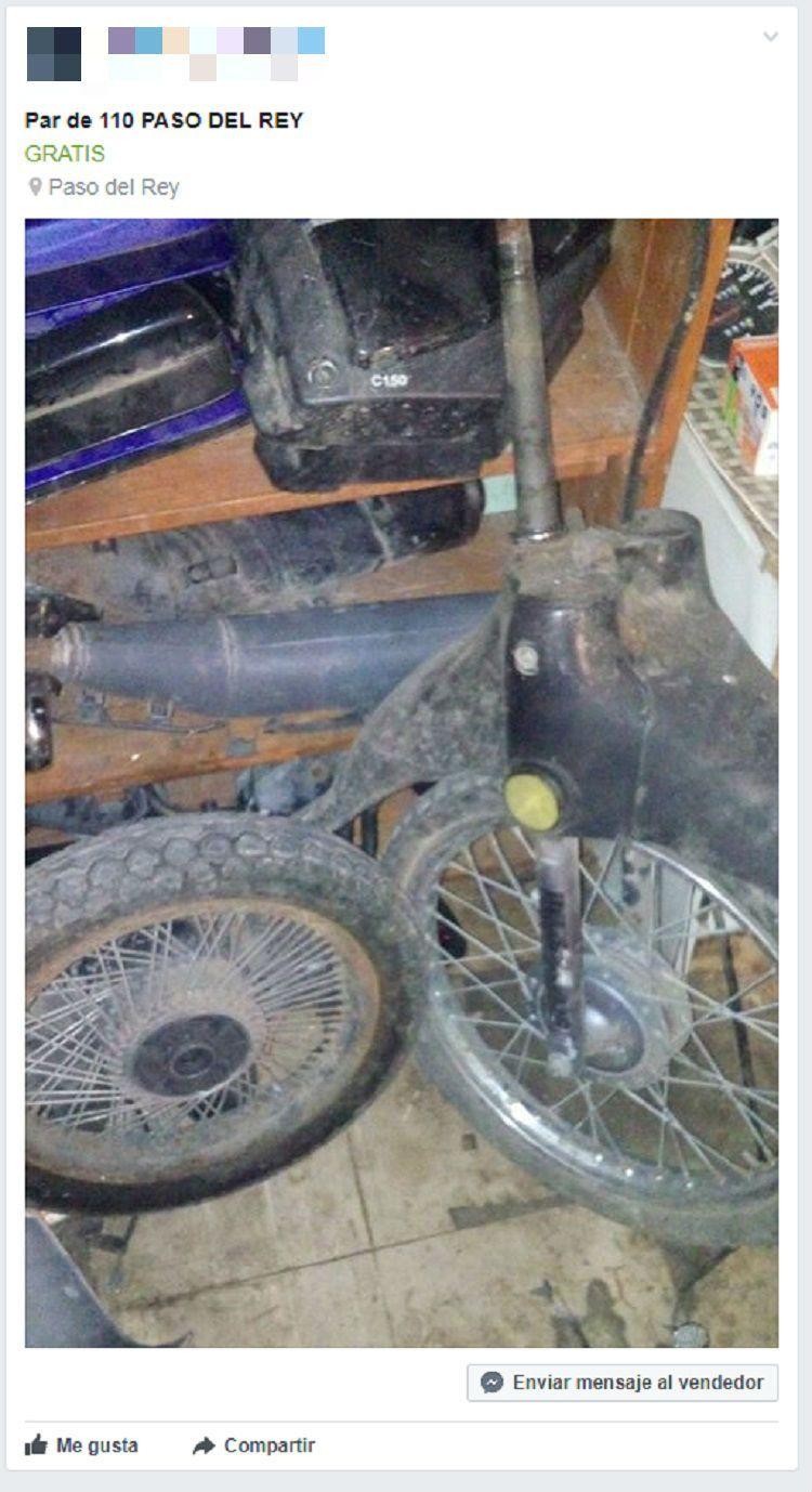 Así ofrecen motos crudas