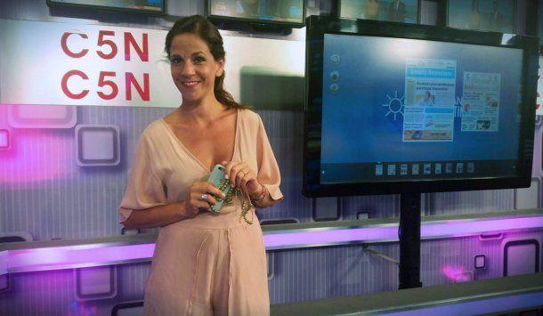 Mercedes Mendoza, periodista de C5N