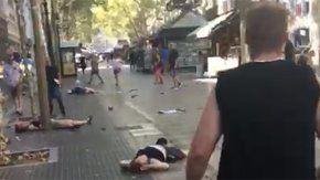 video: asi quedo la rambla tras el atentado en barcelona
