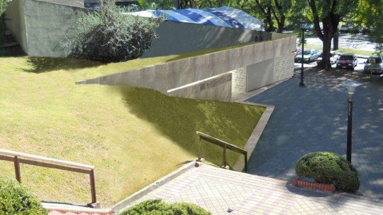 Baño público en un parque de la ciudad de Rosario
