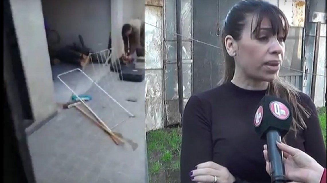 El ex le levantó un muro en el medio del patio - Captura qm noticias