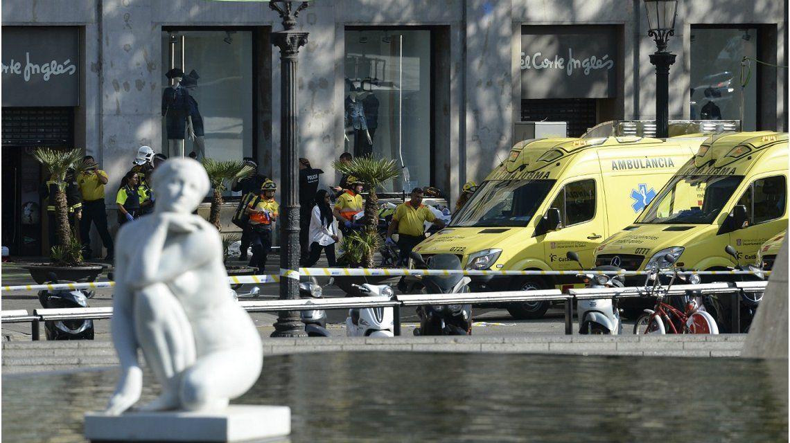El audio policial del momento exacto del atentado en Barcelona