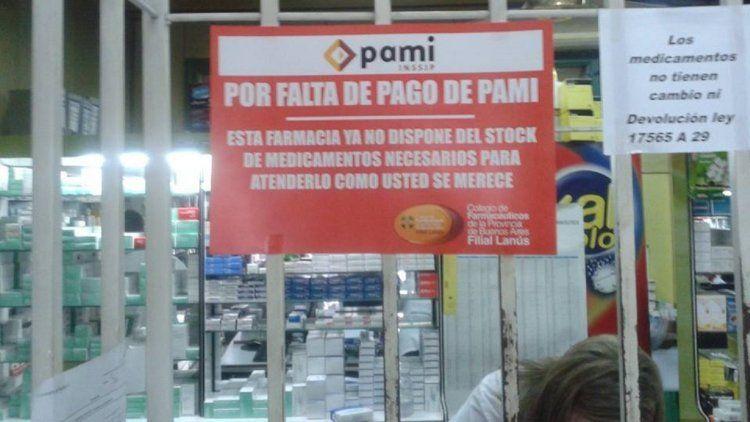 Farmacias no atienden PAMI