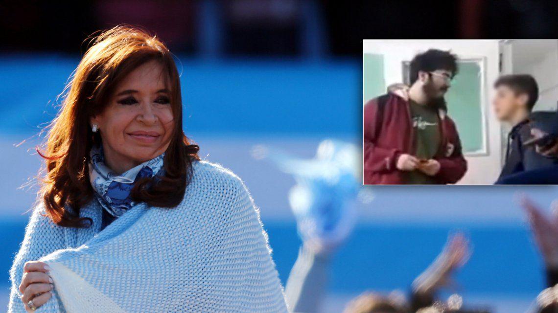Cristina llamó al estudiante golpeado en una discusión política