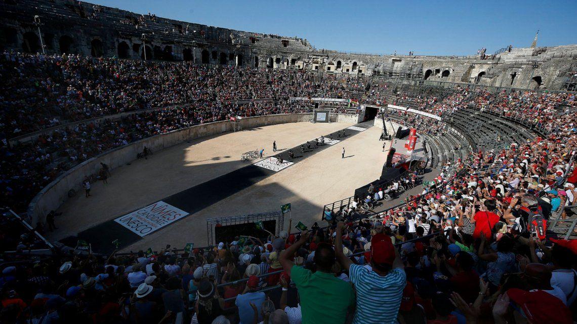 La Vuelta en la Arena de Nimes