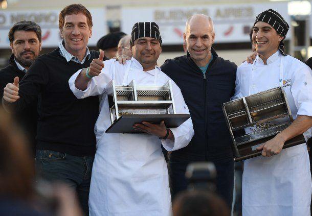 Marcelo Herrera y Pablo Ramallo Oliva, los parrilleros que ganaron el Campeonato Federal del Asado.
