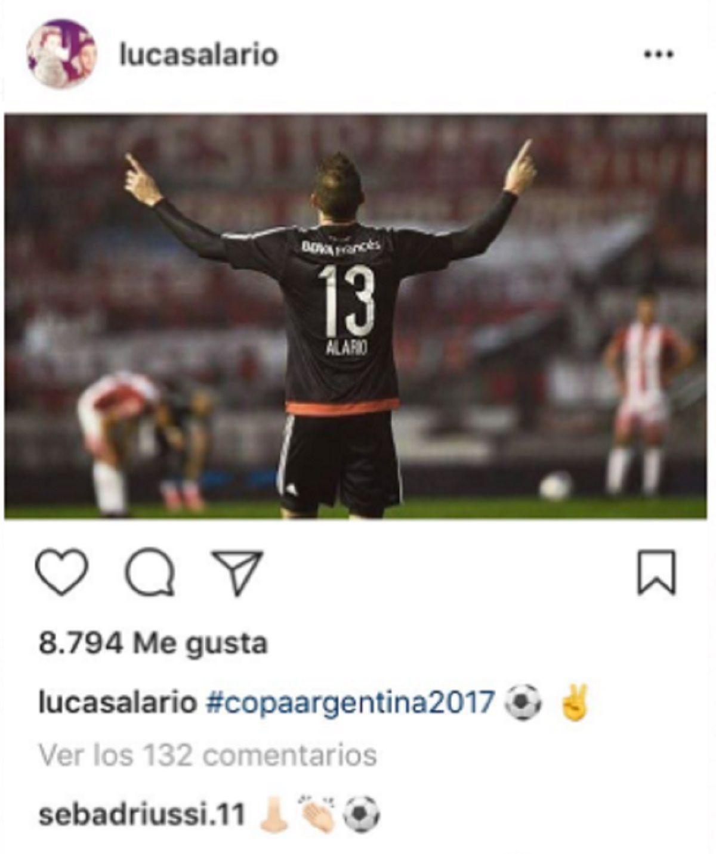 El divertido intercambio entre Lucas Alario y Sebastián Driussi en Instagram