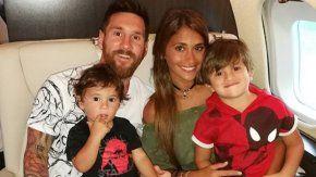 Messi subió un video de sus hijos