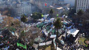 Así fue una de las últimas movilizaciones de la CGT contra el gobierno de Macri
