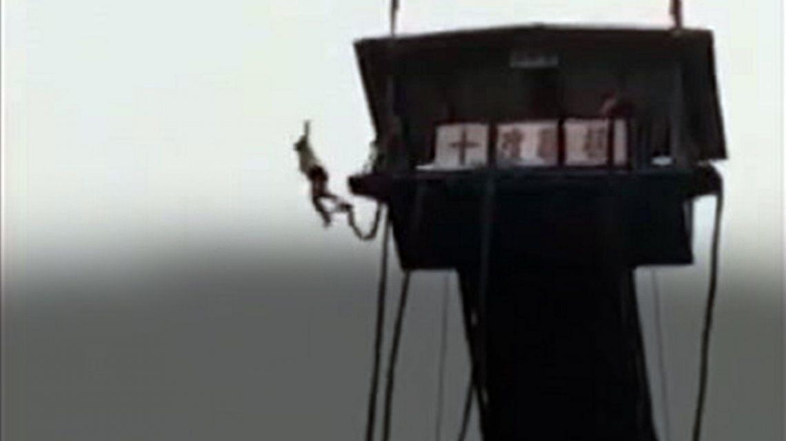 Sufrió un terrible accidente haciendo bungee jumping