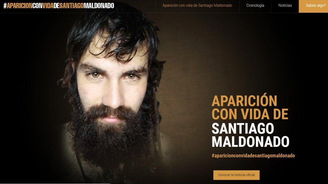 La familia de Santiago Maldonado creó una página web para difundir información