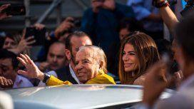 Carlos Menem junto a su hija Zulemita