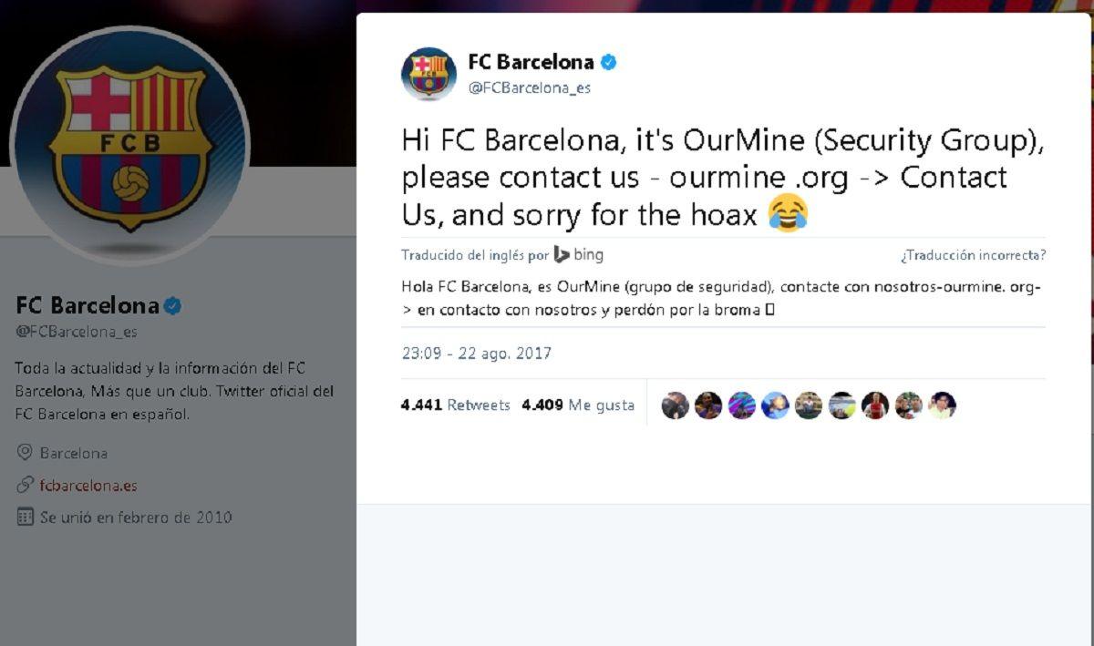Así anunciaban que los habían hackeado