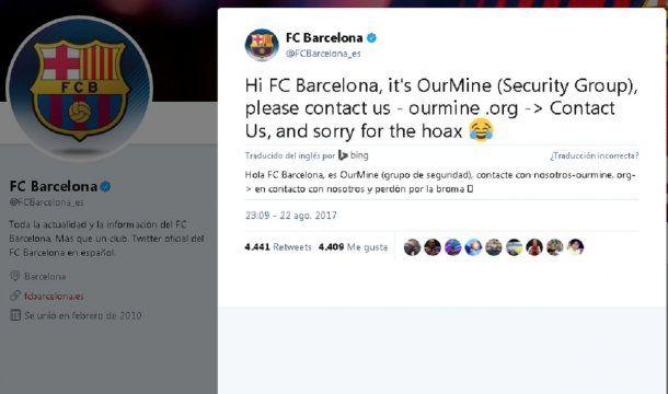 Así anunciaban que los habían hackeado<br>