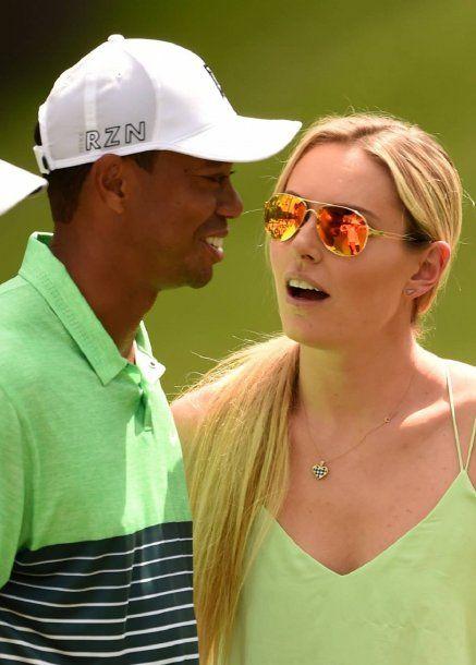 Tiger Woods y Lindsey Vonn cuando eran novios<br>
