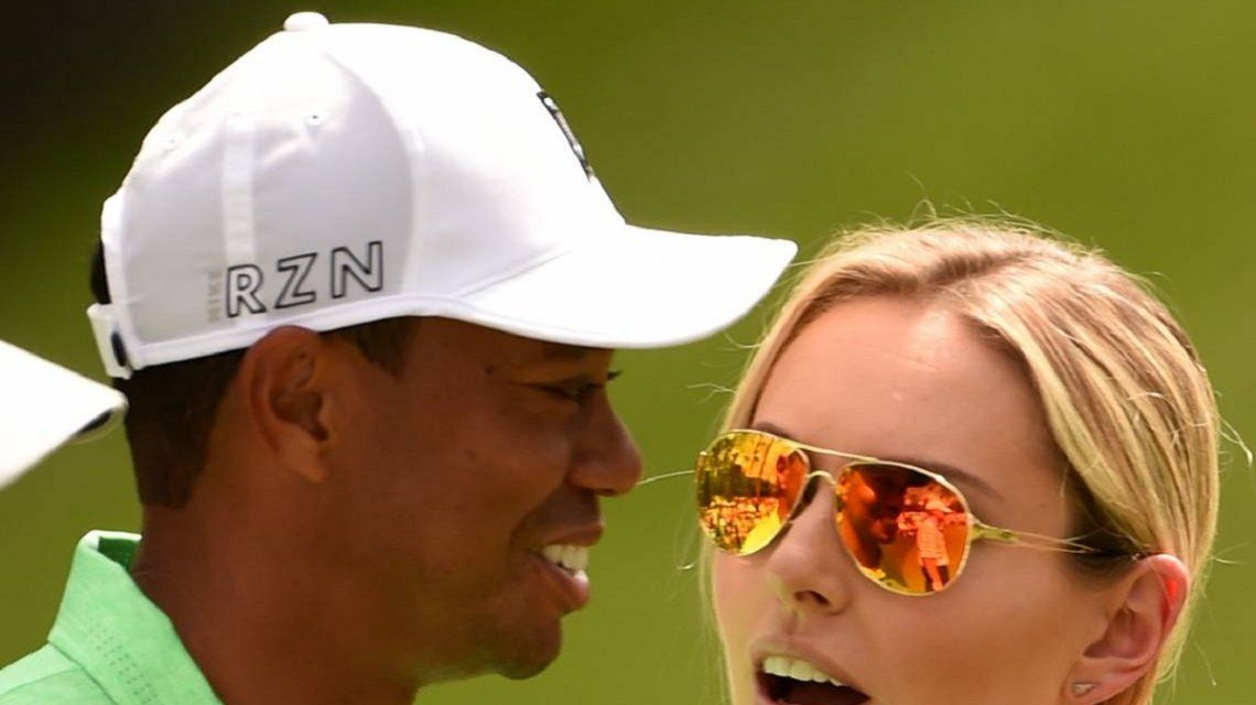 Tiger Woods y Lindsey Vonn cuando eran novios