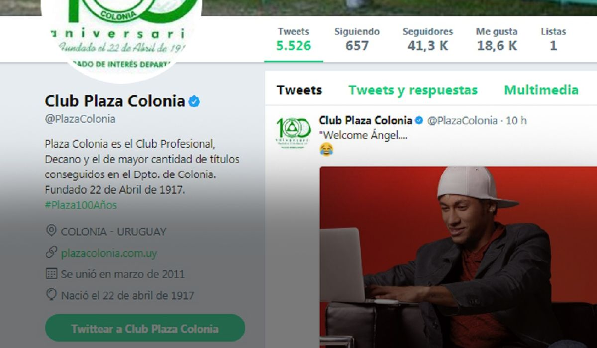 El CM del club uruguayo estuvo muy rápido para la broma