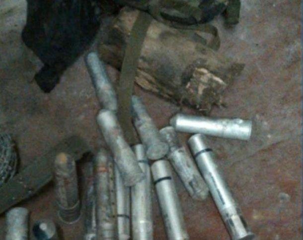 Dentro de la propiedad de Bazán fueron halladas siete granadas, hongos alucinógenos y dos plantas de cannabis, entre otros elementos.
