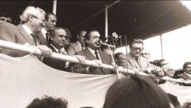 Hace 34 años el triunfo de Ricardo Alfonsín, Eduardon Angeloz y  Ramón Mestre