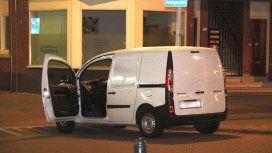 La furgoneta en la que encontraron varias garrafas de gas en Rotterdam