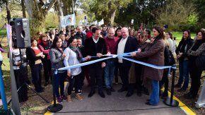 El intendente Ariel Sujarchuk participó del acto de apertura del nuevo camino peatonal y de bicicletas que construyó la Municipalidad en el Polo de Educación Superior (PES) de Escobar.