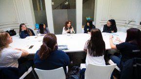 Cristina Kirchner se reunión con trabajadoras de Pepsico