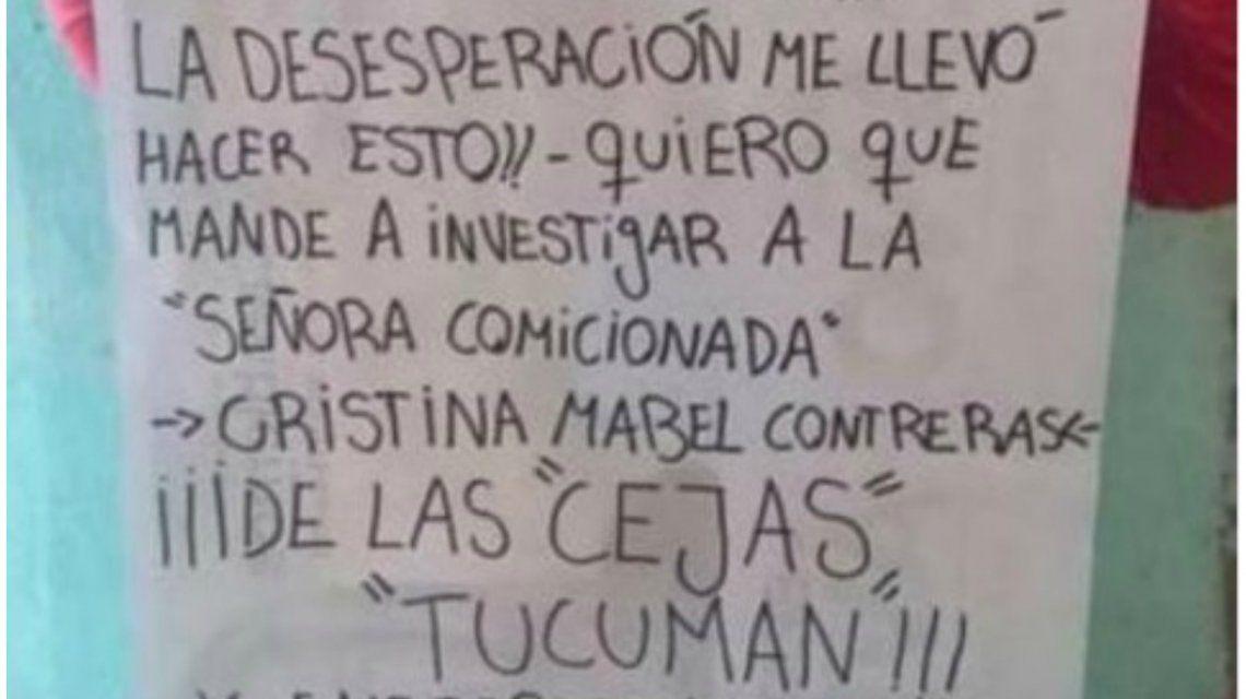 La denuncia que se viralizó entre los tucumanos