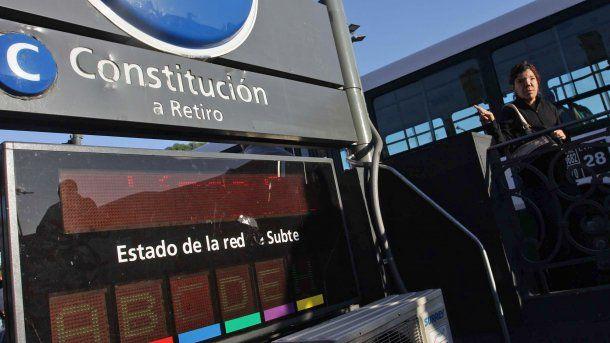 La línea C une las estaciones Constitución y Retiro<br>