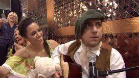 Payada de Jey Mammon con su bailarina que lo frena