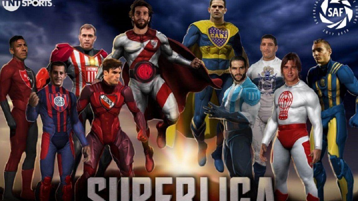 El afiche con los superhéroes que formarán parte del torneo