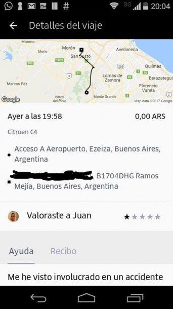 El viaje que hizo con Juan