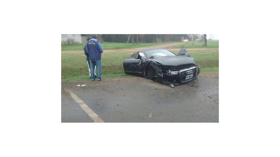 Así quedó el auto del hermano de Messi