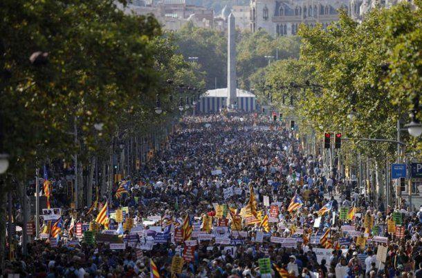 Manifestación en Barcelona contra el terrorismo<br>