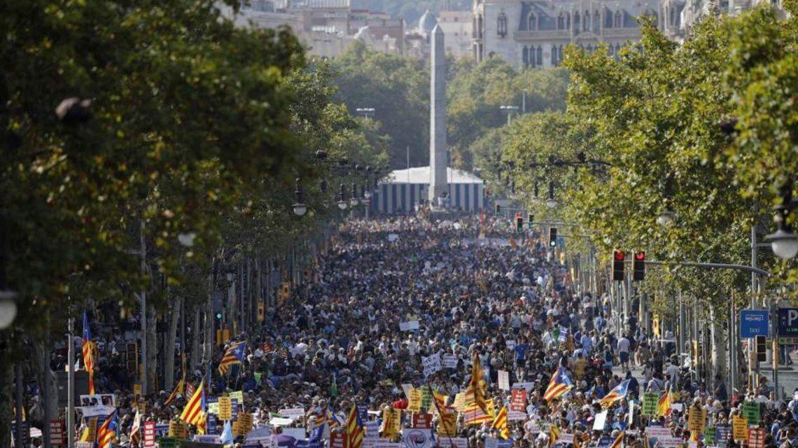Manifestación en Barcelona contra el terrorismo